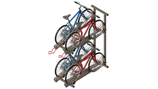 Quad Hi-Density Bike Rack