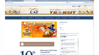 CAT, Bis-Man Transit Website Gets A New Look