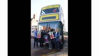 First Eastern Counties Buses Wear a Poppy in Support of the Royal British Legion