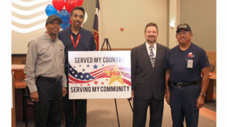 Veterans on Via's Workforce Honored