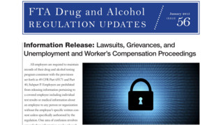 FTA Drug and Alcohol Regulation Updates - Jan 2015