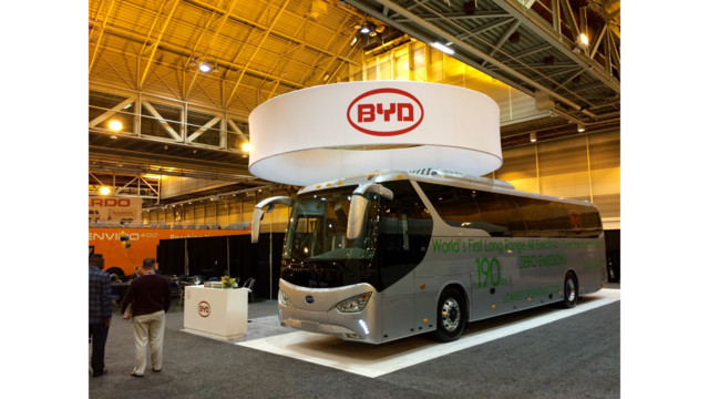 Byd Unveils Electric Coach Bus Mass Transit