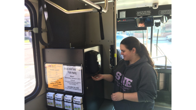 Hand Sanitizers Now on All SLO Transit Buses
