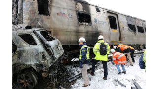 Photos: NTSB Examines Metro-North Valhalla Accident