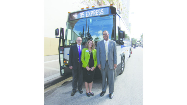 Bct prepares first five mci commuter coaches for express for Broward motor vehicle registration