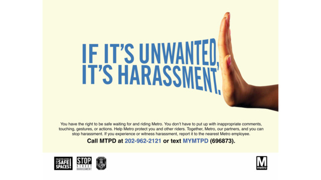 Metro Launches Anti-Harassment Campaign Ads