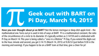 Geek Out With BART For Pi Day