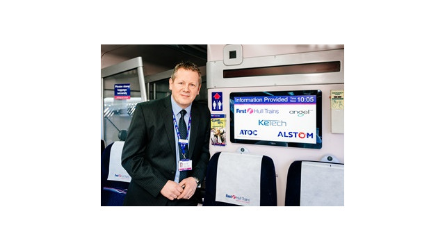 U.K.'s First Real-Time On-Board Train Information Screens Launched