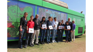 Earth Day Art Contest Artwork Unveiled on RTC Vehicle