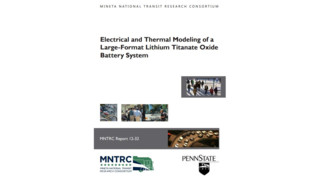 Electrical and Thermal Modeling of a Large-Format Lithium Titanate Oxide Battery System