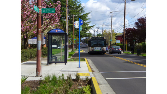 TriMet Improves Bus Stops