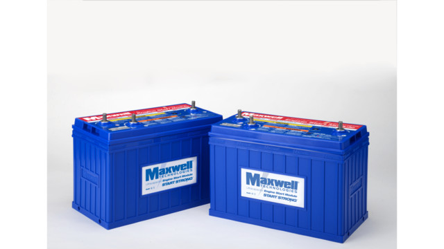 Maxwell Technologies Introduces 24-Volt, Ultracapacitor-Based ESM