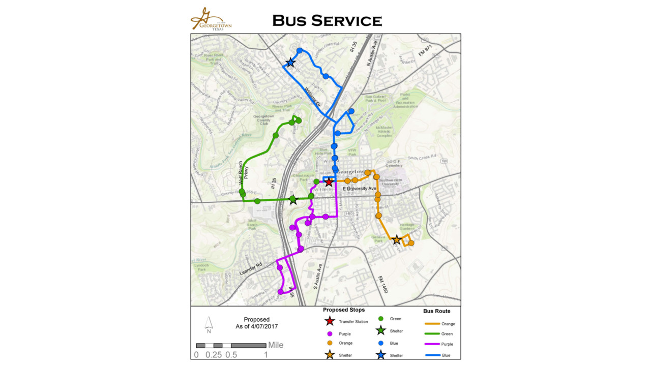 Georgetown To Begin Capital Metro Fixed Route Bus Service