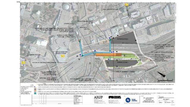 Texas High-Speed Train Unveils Passenger Station in Dallas