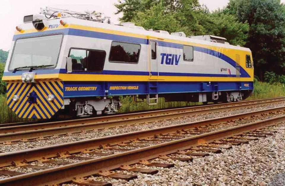 Harsco Rail Track Geometry Inspection Vehicle (TGIV) in Railroad