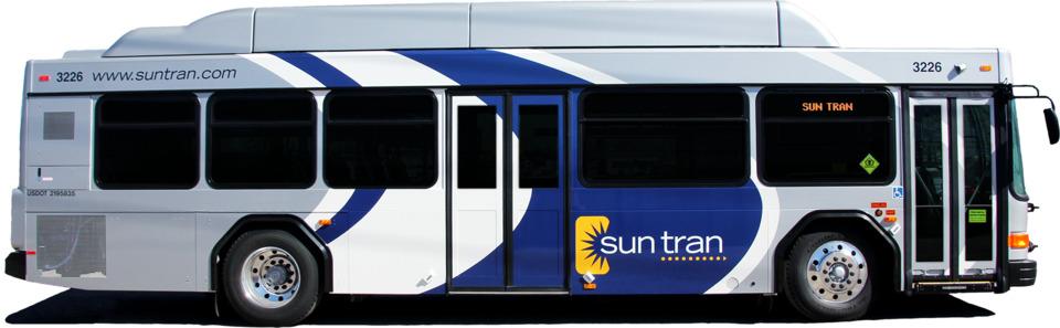 Sun Tran Introduces 5 CNG Buses