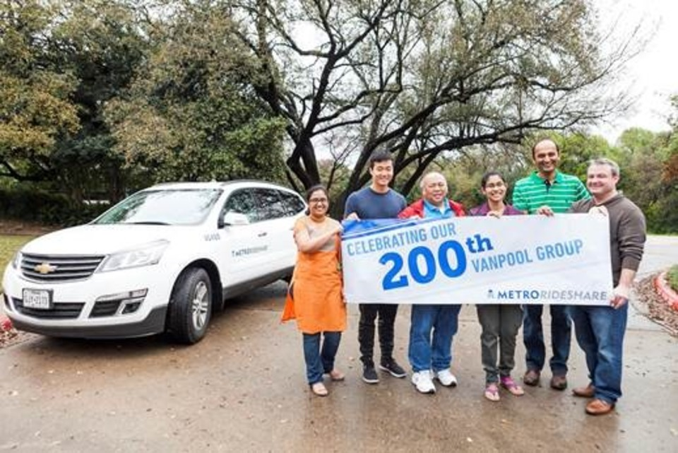 Capital Metro's RideShare Program Breaks Record with 200 Vanpools