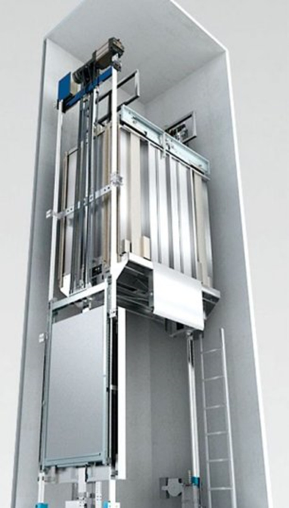 New Schindler 3100 Machine Room-Less Traction Elevator
