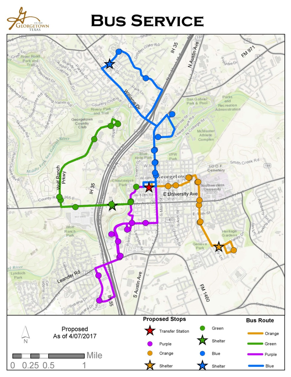 Georgetown to Begin Capital Metro Fixed-Route Bus Service in