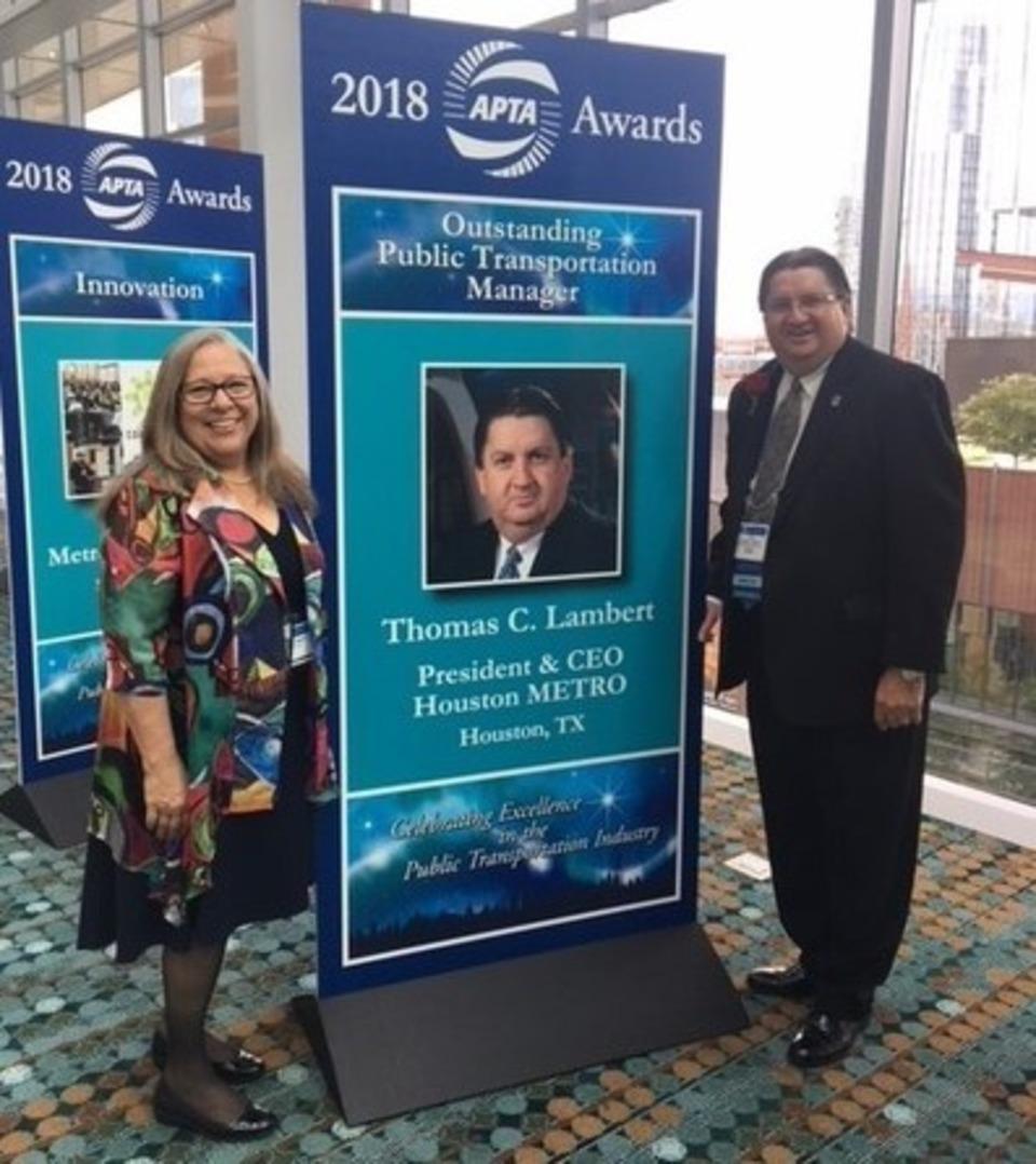 Houston Metro CEO Accepts National Transportation Award