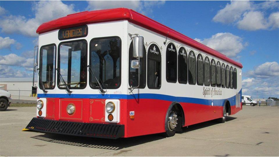 New trolley aids rebuilding efforts in Panama City, Fla