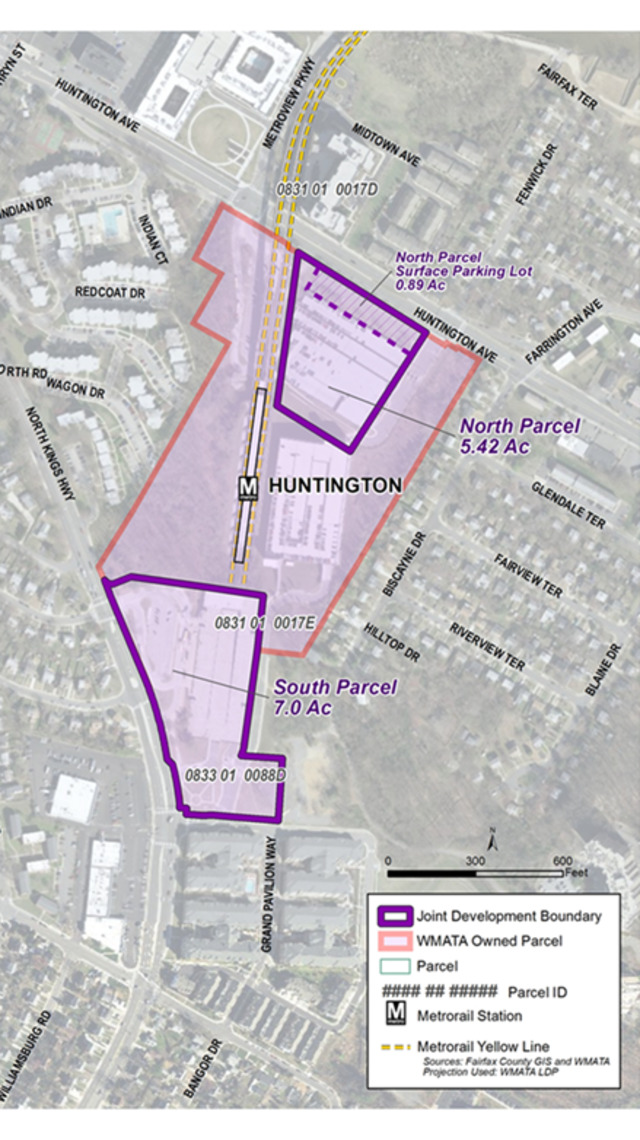 Huntington joint development plan. Source: WMATA