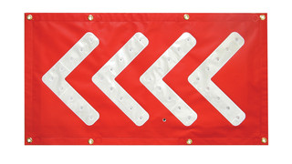 LED Flashing Chevron Arrow Mat