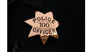 BART Police Department Wearing New Officer Badges