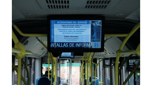 Madrid's Public Bus Company Chooses C-nario's Digital Signage System for its Public Buses