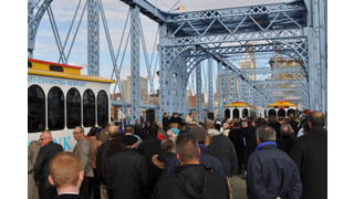 Transit Authority Celebrates Opening of 143 Year Old Bridge with New Lightweight Trolleys
