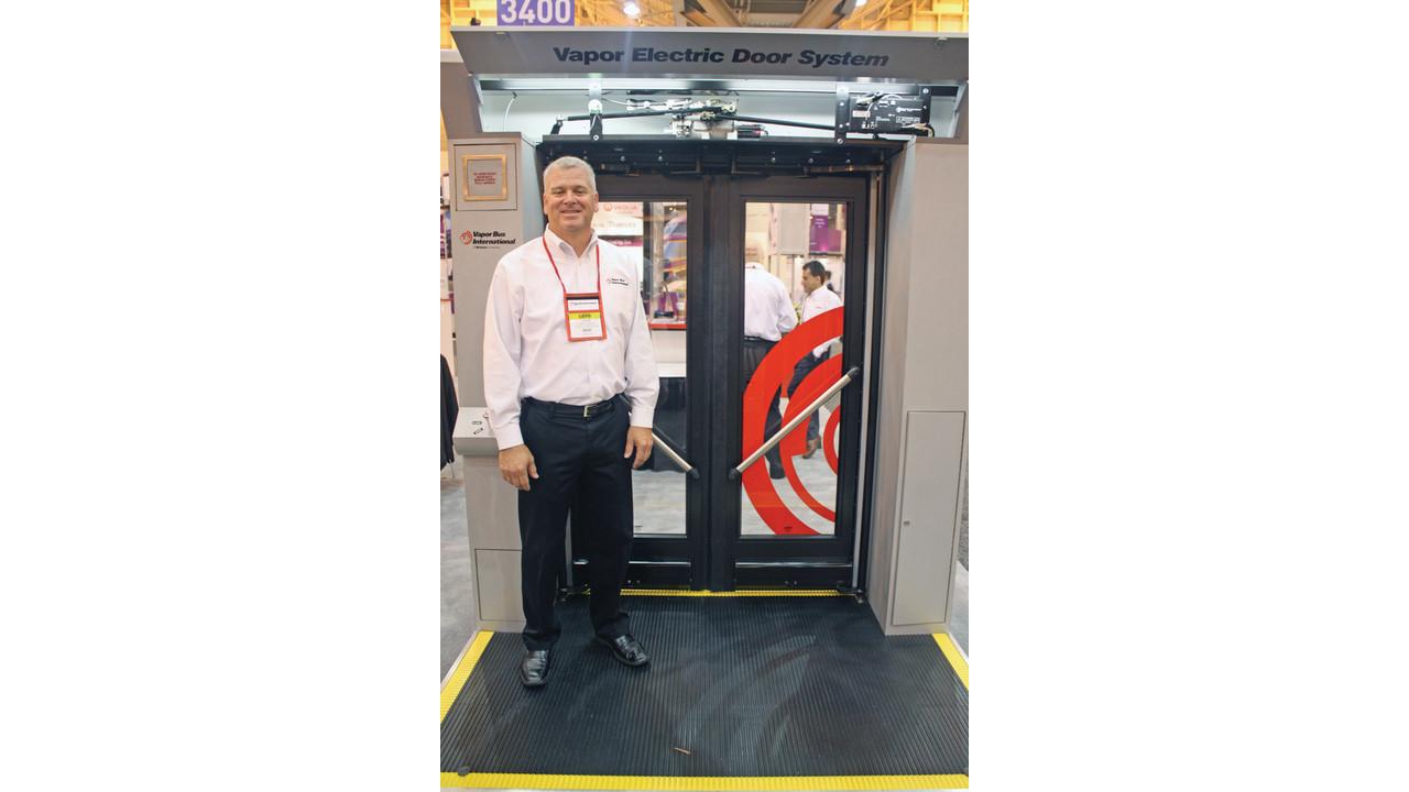 Electric Door Actuator Replaces Pneumatic System Mass