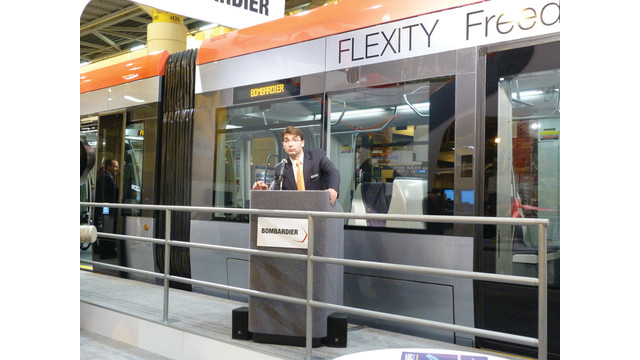 Bombardier Launches New Light Rail Vehicle Platform