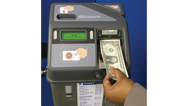 Validating fare boxes gfi