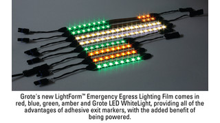Grote's LightForm Active Emergency Egress Lighting Film Obsoletes Other Systems