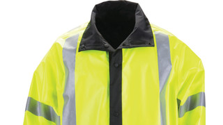 Long Reversible High-Vis Rail Coat