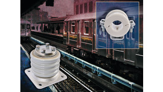 Third Rail Insulator Support and Porcelain Spool Cable Support