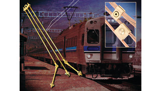 Overhead Catenary Contact Line Support and Connectors for the Power Line and Cables