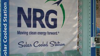 It is 100 Degrees, Let the cooling Begin at the NRG Solar-powered Light Rail Station