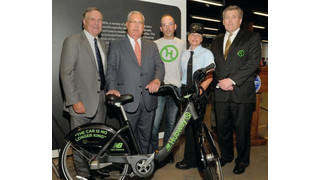Massachusetts Bay Commuter Railroad Company Sponsors City of Boston's Hubway Bike Sharing Program