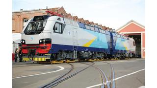 Alstom Presents First Freight Locomotive KZ8A to Kazakh Railways