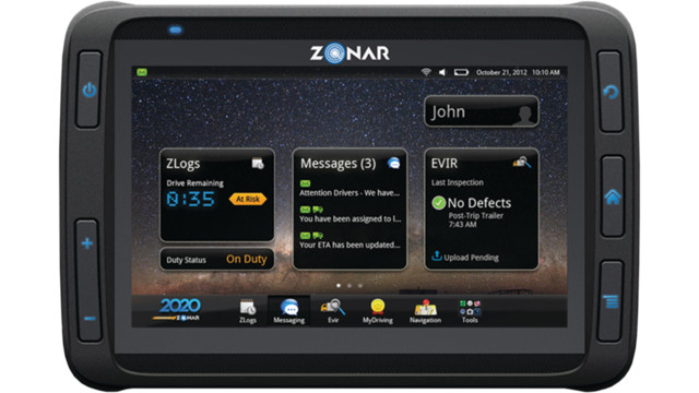 Zonar Introduces the 2020 Tablet for Mobile Transportation Technology