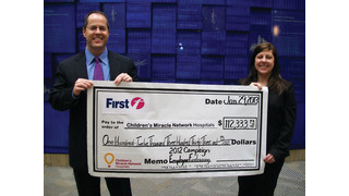 FirstGroup America Donates $112,000 to Children's Miracle Network