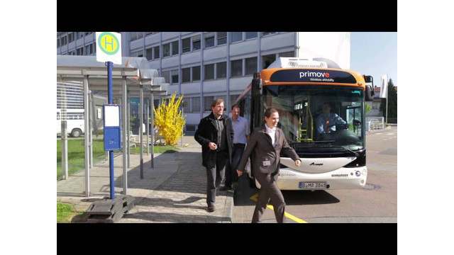 Inductively Charged e-Bus: Bombardier Primove