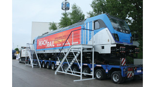 Germany: Bombardier Presents Traxx AC Last Mile Locomotive at Transport Logistic 2013