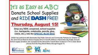 VA: DASH Offers a Free Ride for School Supply Donations