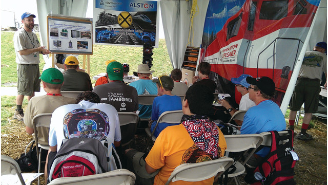 TUV Rheinland Mobility Inc. Division Supports Railroading Merit Badge at Boy Scouts of America Jamboree
