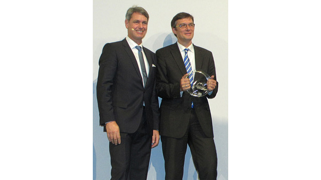 Germany: Conductix-Wampfler wins Bavarian State Award (eCarTec Award) for Sustainable Mobility Concepts