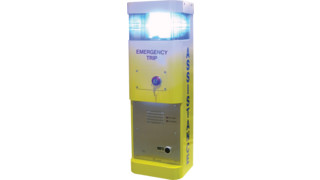 Wall-Mounted Blue Light Station (BLS) with Emergency Trip Button