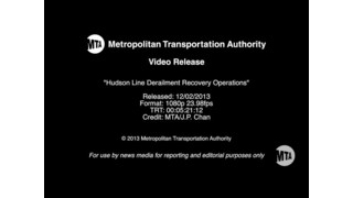 Hudson Line Derailment Recovery Operations