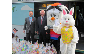 TX: Via Employees Deliver Easter Baskets to Needy Children